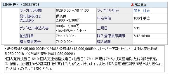 LINEのIPO自動変更